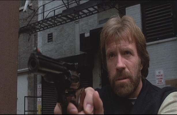 Chuck Norris using a weapon less deadly than himself