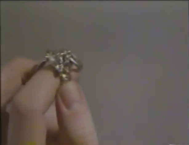 This ring has to be thrown into flaming garbage can